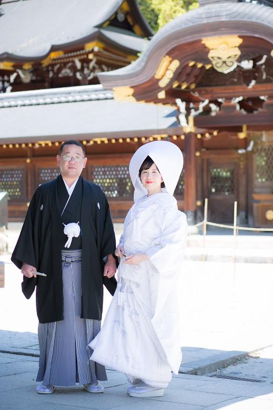 今宮神社でお写真撮り♡白無垢・色打掛編