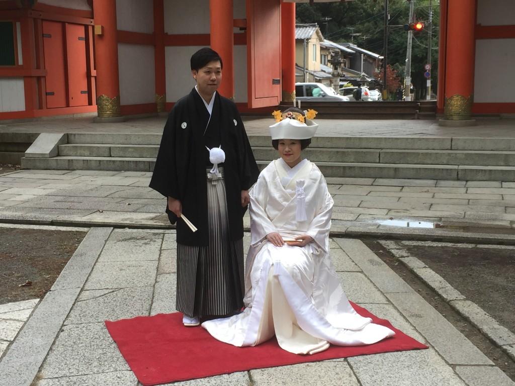 京都和婚+ホテルウエディングのお二人です!