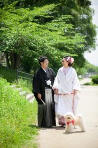 【京都前撮りレポート】愛犬と一緒に写真を撮ろう♪