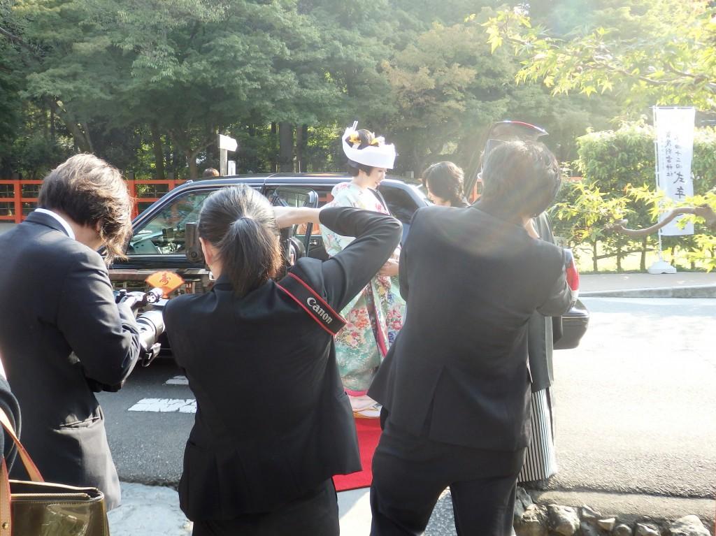 【京都上賀茂神社結婚式】御色打掛と角隠しスタイルでの挙式