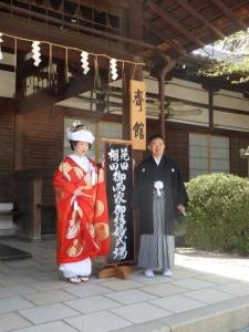 【京都結婚式レポート】素晴しいお天気に恵まれた藤森神社挙式!