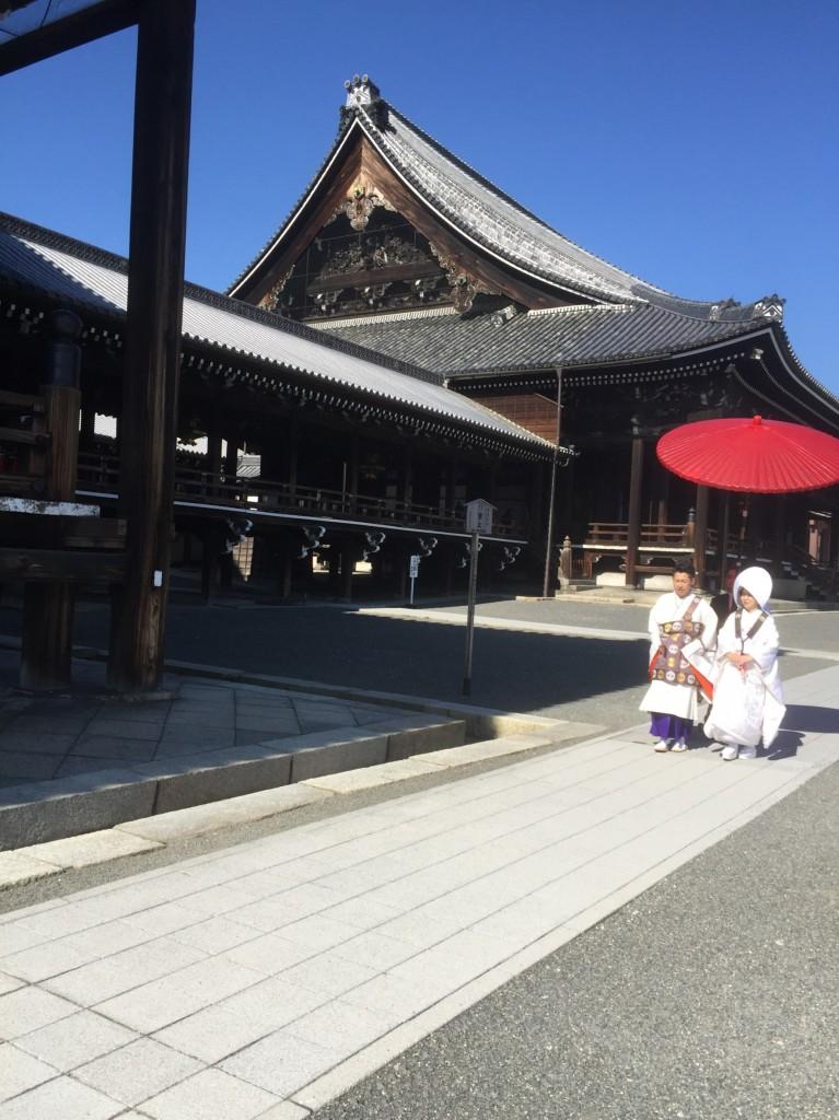 【京都仏前式】晴天の中での西本願寺結婚式!