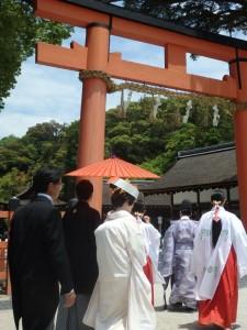 【京都結婚式レポート】大安吉日の上賀茂神社挙式♪