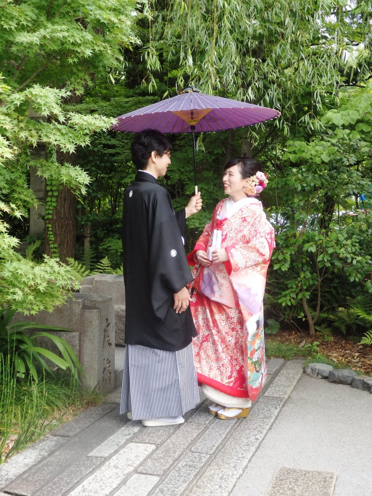 【京都前撮りレポート】梅雨の晴れ間に恵まれた晴明神社での撮影♪