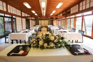 【京都料亭結婚式】山ばな平八茶屋~大広間とお庭~